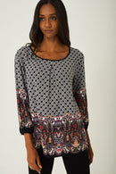 Printed Weekend Top-Fabulous Bargains Galore