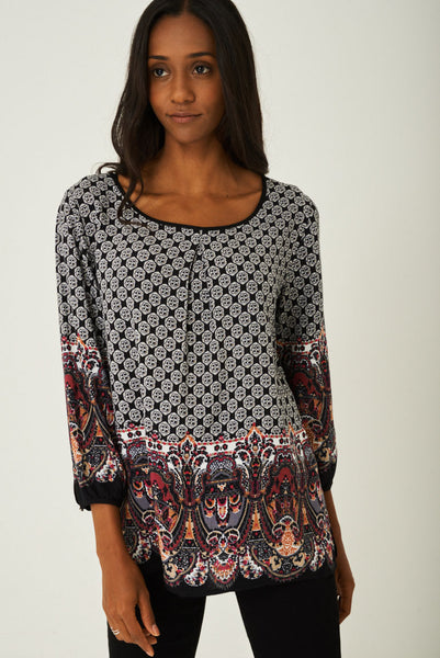 Printed Weekend Top