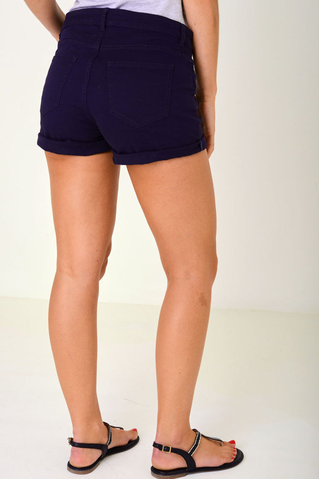 Denim Shorts in Navy Ex Brand-Fabulous Bargains Galore
