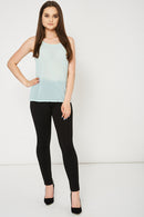 Mint Green Embellished Top Ex-Branded Available In Plus Sizes-Fabulous Bargains Galore