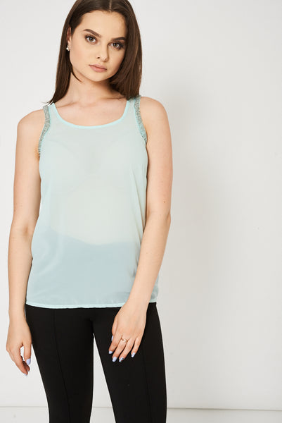 Mint Green Embellished Top Ex-Branded Available In Plus Sizes