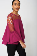 Exclusive Collection Embroidery And Mesh Blouse-Fabulous Bargains Galore