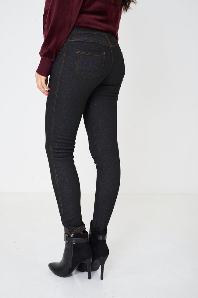 Black Fleece-Lined Leggings-Fabulous Bargains Galore