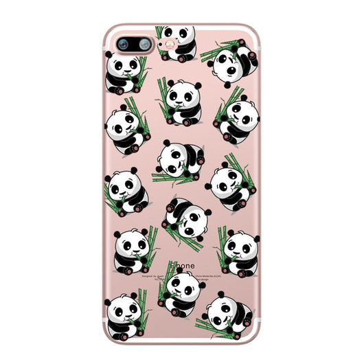 Panda Design Soft Ultra Thin Transparent iPhone 7 Case-Fabulous Bargains Galore
