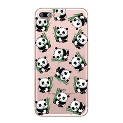 Panda Design Soft Ultra Thin Transparent iPhone 7 Case