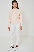 BIK BOK High Neck Jumper in Peach-Fabulous Bargains Galore