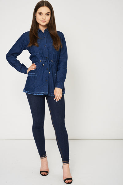 Blue Denim Shirt Dress Ex-Branded Available In Plus Sizes