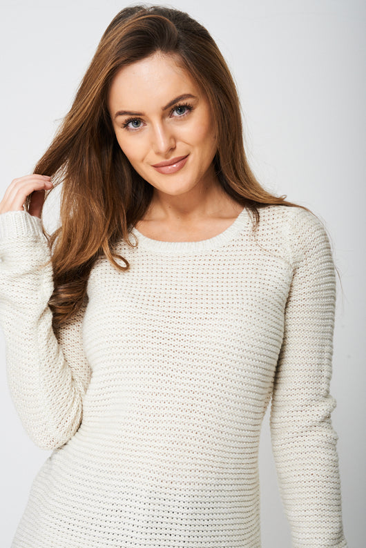 Round Neck Glitter Knit Jumper - Fabulous Bargains Galore