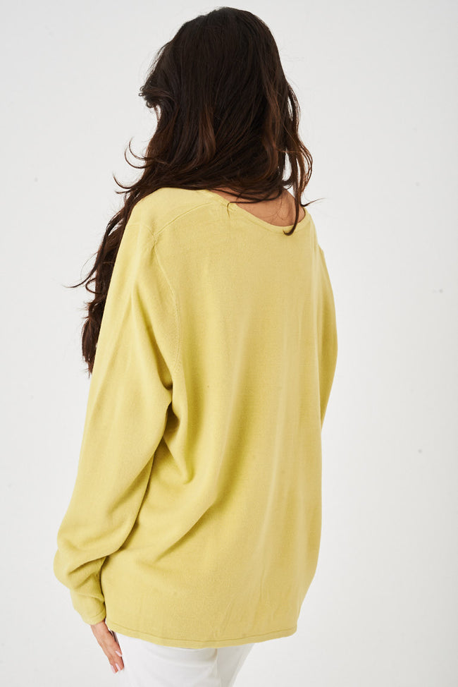 Yellow Oversized Jumper Ex Brand-Fabulous Bargains Galore