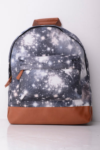 Space Print Canvas Backpack Design Bag