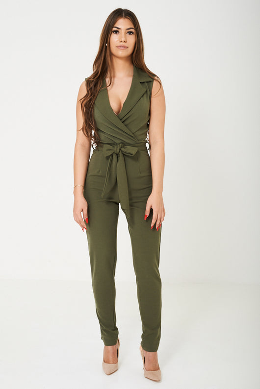 Deep Plunge Jumpsuit Ex Brand-Fabulous Bargains Galore