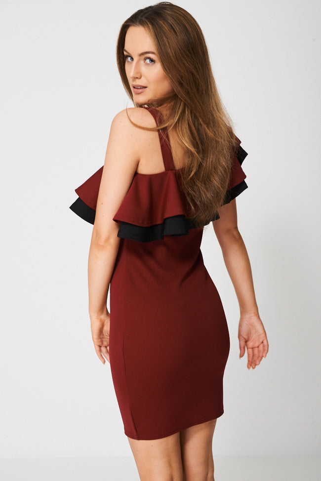 Layered Frill Dress Ex-Branded-Fabulous Bargains Galore