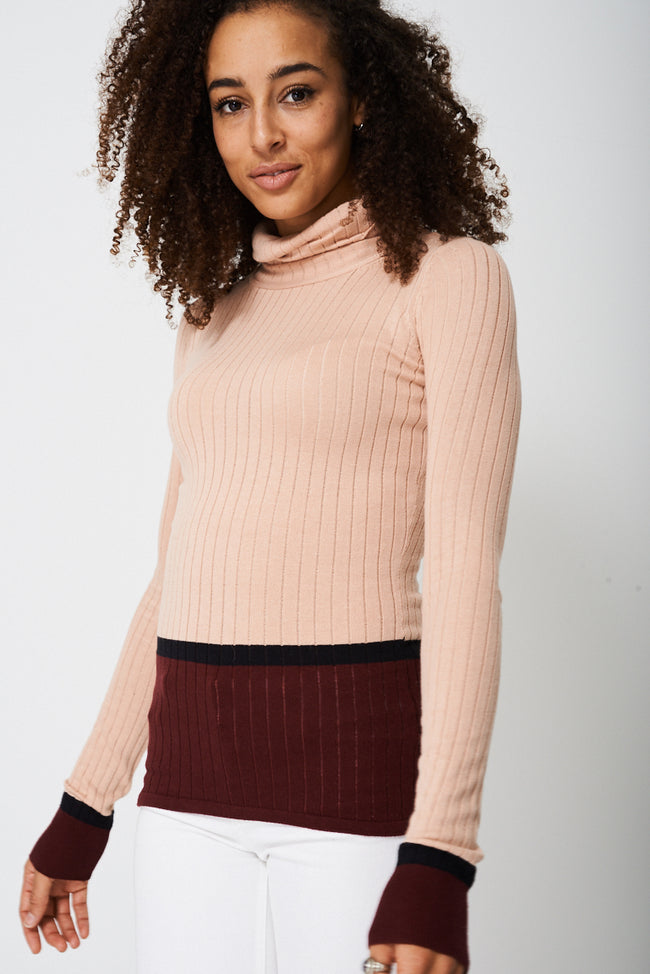 Polo Neck With Contrast Top Ex-Branded-Fabulous Bargains Galore