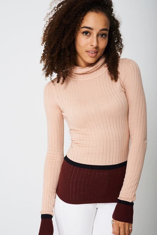 Polo Neck With Contrast Top Ex-Branded