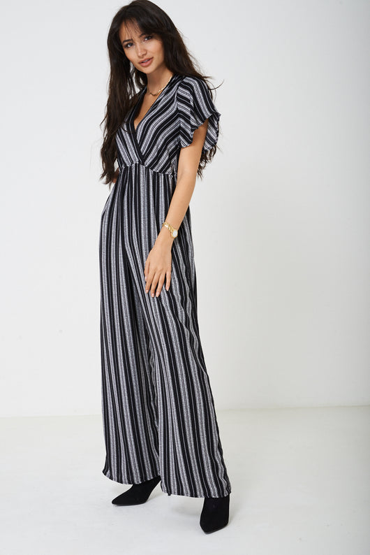Wide Leg Plunge Jumpsuit