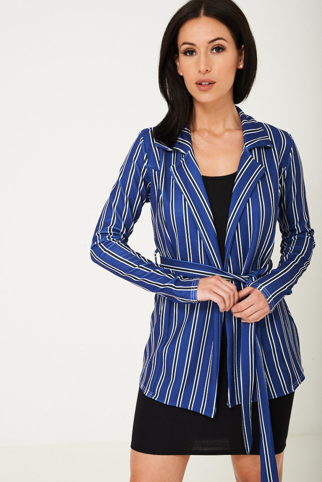 Blue Blazer in Stripes Ex Brand-Fabulous Bargains Galore