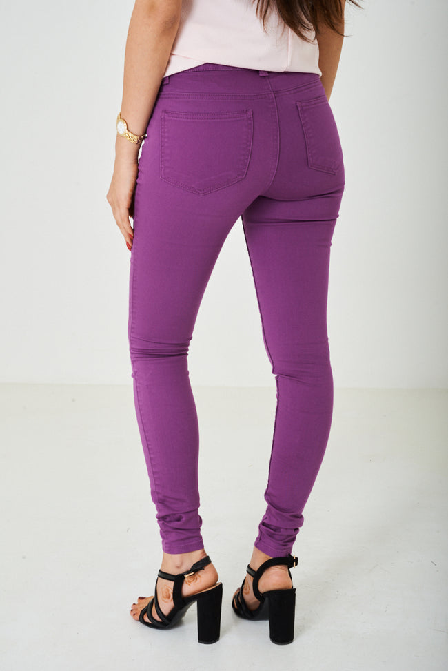 Super Skinny Jeans in Purple-Fabulous Bargains Galore