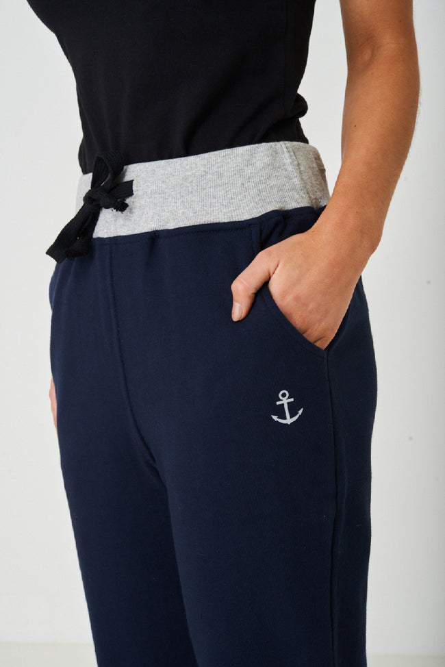 Active Navy Straight Trousers-Fabulous Bargains Galore