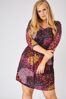 Patterned Tie Waist Dress-Fabulous Bargains Galore