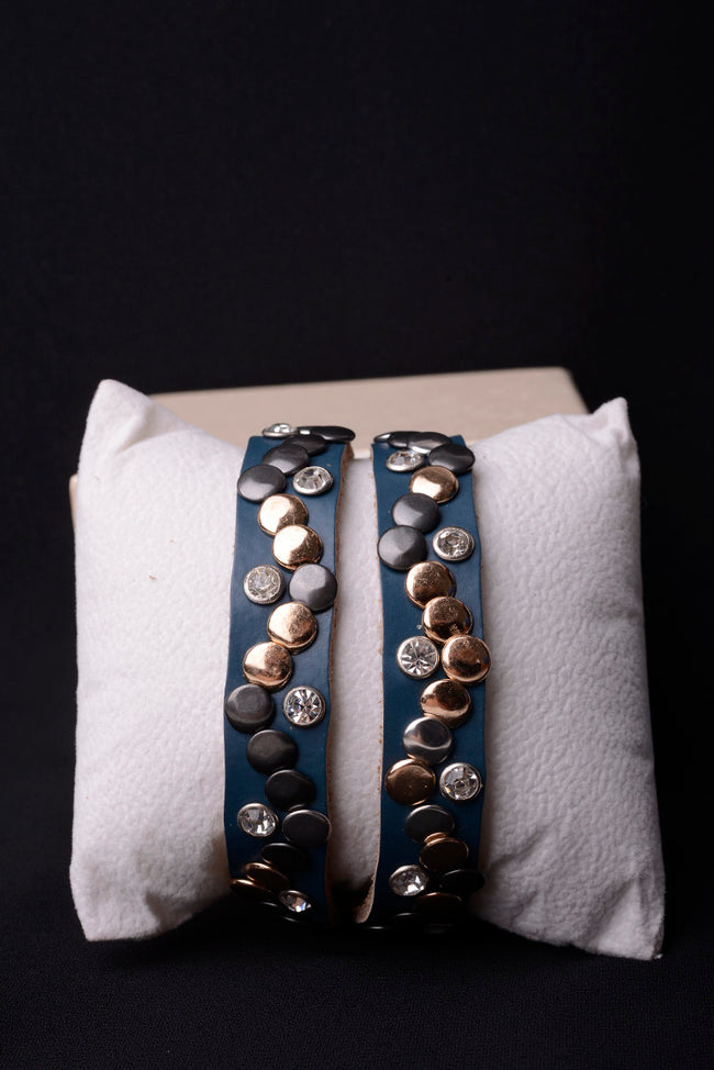 Vintage Inspired Leather Studded Bracelet-Fabulous Bargains Galore