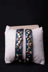 Vintage Inspired Leather Studded Bracelet