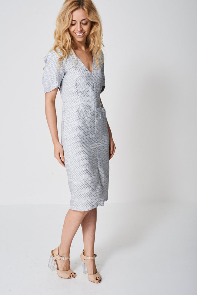 Textured Dress With Seam Detail-Fabulous Bargains Galore