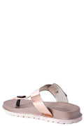 Jelly Flat Sandals in Gold-Fabulous Bargains Galore