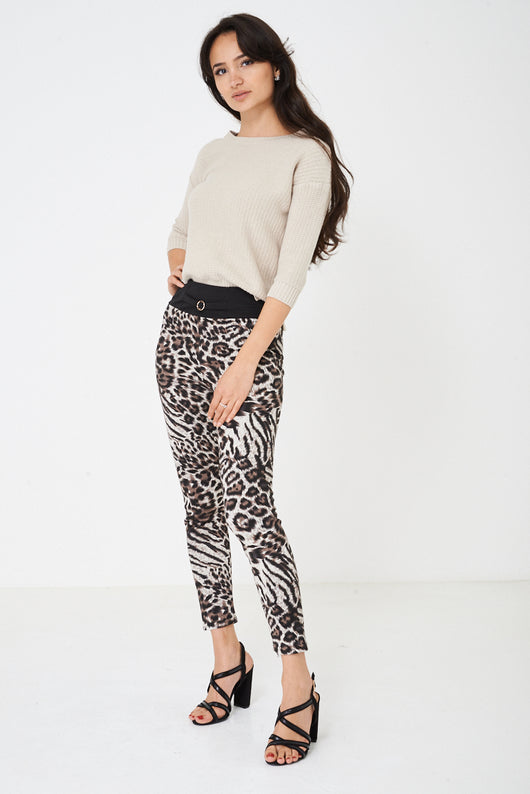 Leopard Print Fleece Legging-Fabulous Bargains Galore