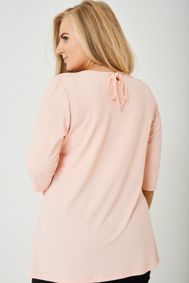 PLUS SIZE Longline Top in Light Pink-Fabulous Bargains Galore