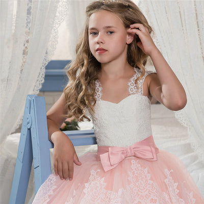 Sleeveless pink princess dresses for girls-Fabulous Bargains Galore