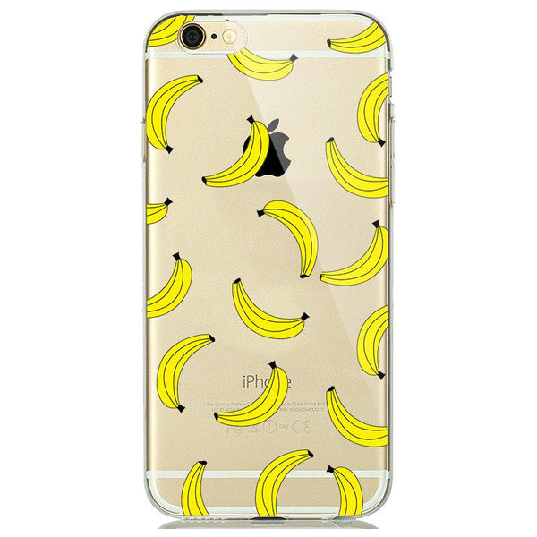 Banana Print Soft Silicon Transparent iPhone 7 Case