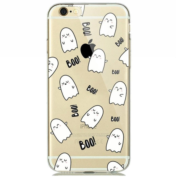 Sale -  Boo Print Soft Silicon Transparent iPhone 7 Case