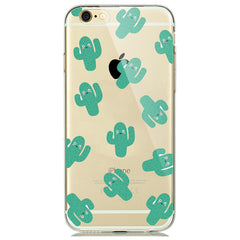 Cactus Print Soft Silicon Transparent iPhone 7 Case