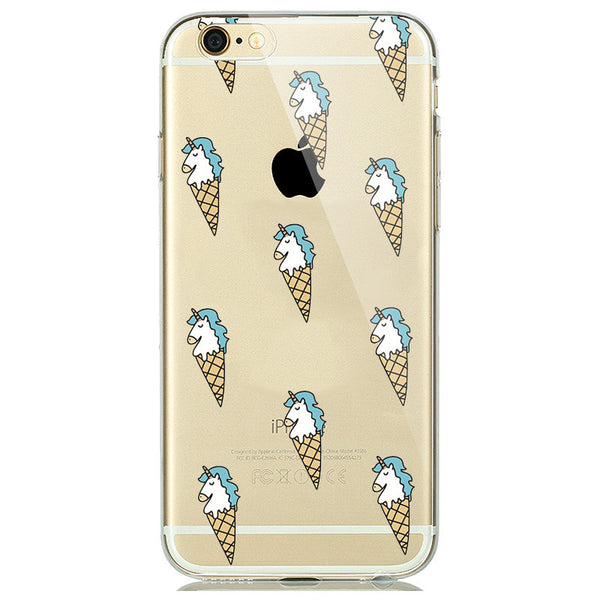 Icecorn Print Soft Silicon Transparent iPhone 7 Case