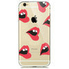 Red Lips Print Soft Silicon Transparent iPhone 7 Case-Fabulous Bargains Galore