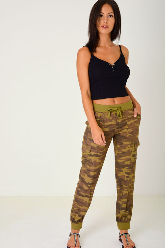 Camo Print Trousers-Fabulous Bargains Galore