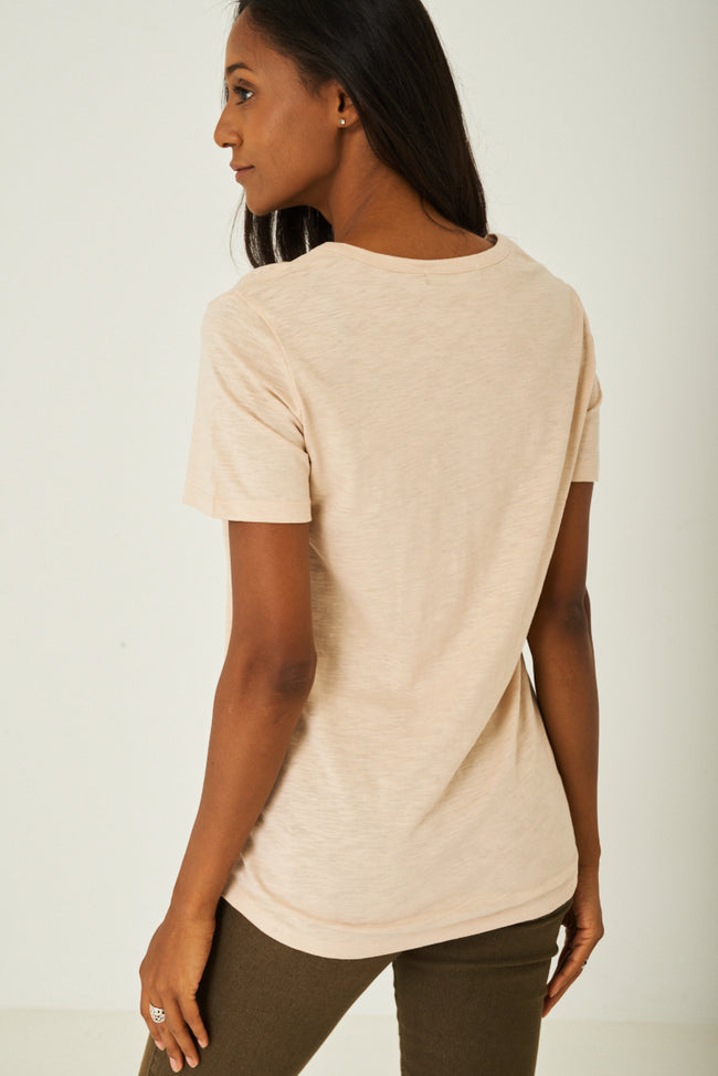 Basic Top in Beige-Fabulous Bargains Galore