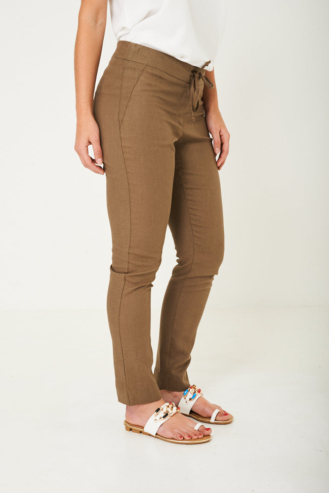 Khaki Linen Trousers Ex Brand-Fabulous Bargains Galore