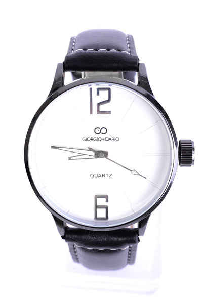 Unisex Faux Leather Classic Watch