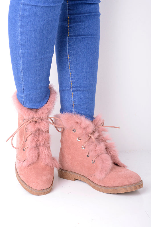 Faux Fur Chelsea Boots - Fabulous Bargains Galore