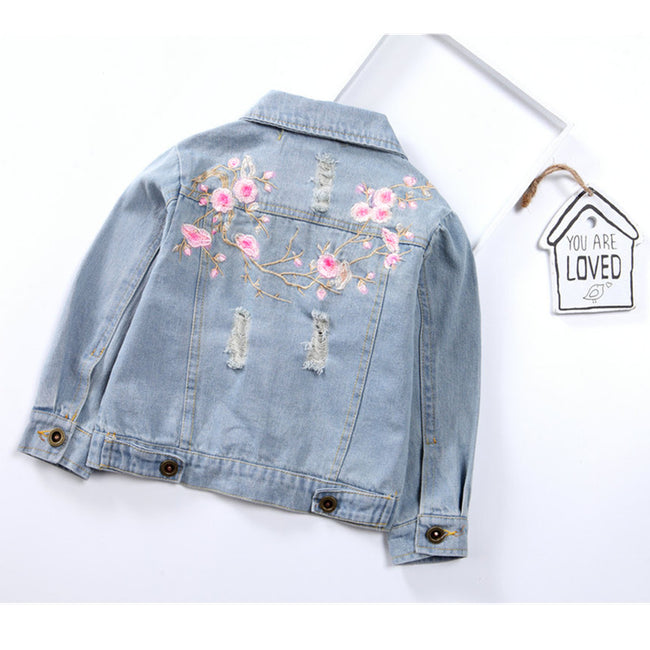 Toddler denim jacket for girls up to age 7 years-Fabulous Bargains Galore