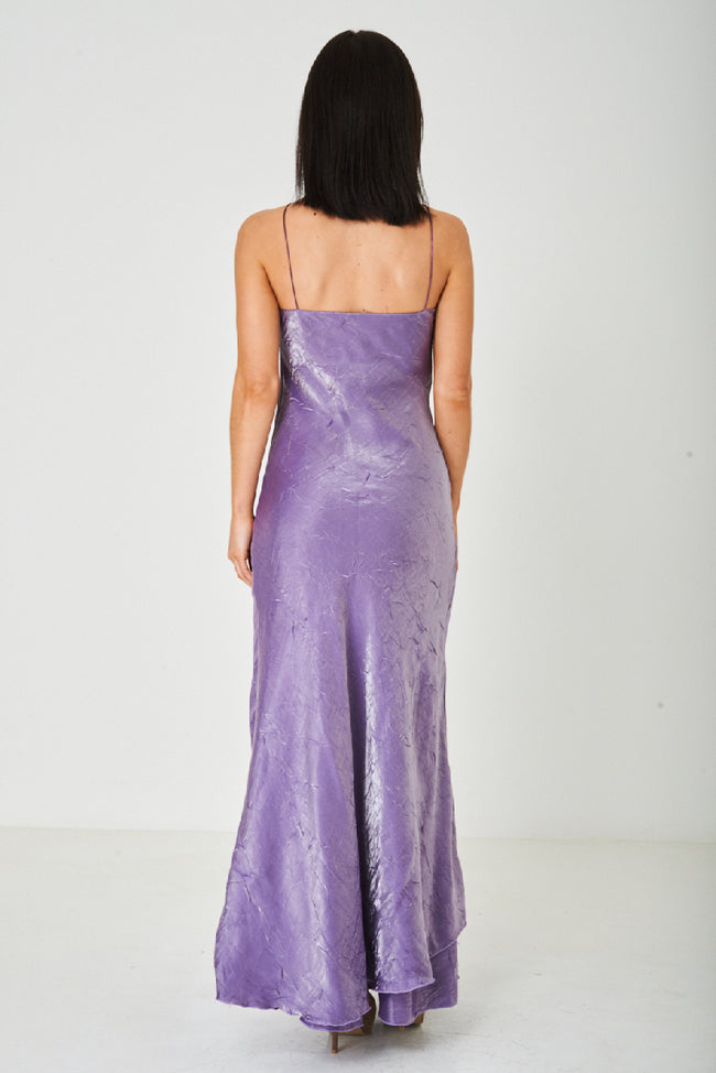 Purple Fishtail Maxi Dress-Fabulous Bargains Galore