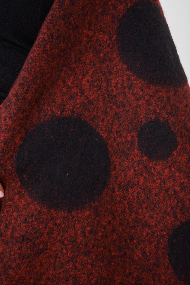 Supersoft Red Polka Dot Scarf-Fabulous Bargains Galore