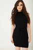 High Neck Bodycon Dress in Black