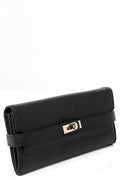 Buckle Detail Purse in Black-Fabulous Bargains Galore