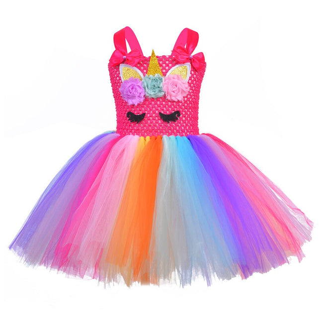 Unicorn girls party dress up to age 12 years-Fabulous Bargains Galore
