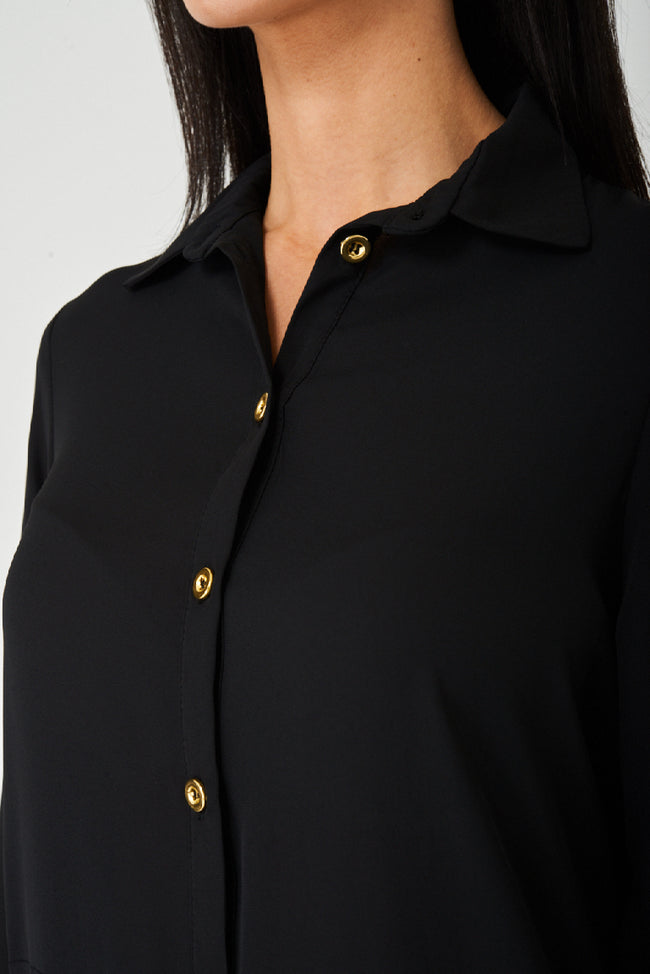 Jothirty Black Shirt Dress-Fabulous Bargains Galore
