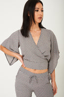 Mix and Match Printed Kimono Crop Top-Fabulous Bargains Galore
