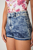 Washed Denim Blue Shorts Ex Brand-Fabulous Bargains Galore