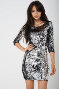 BIK BOK All Over Silver Sequin Mini Dress-Fabulous Bargains Galore